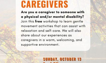 Workshop for Caregivers October 13th
